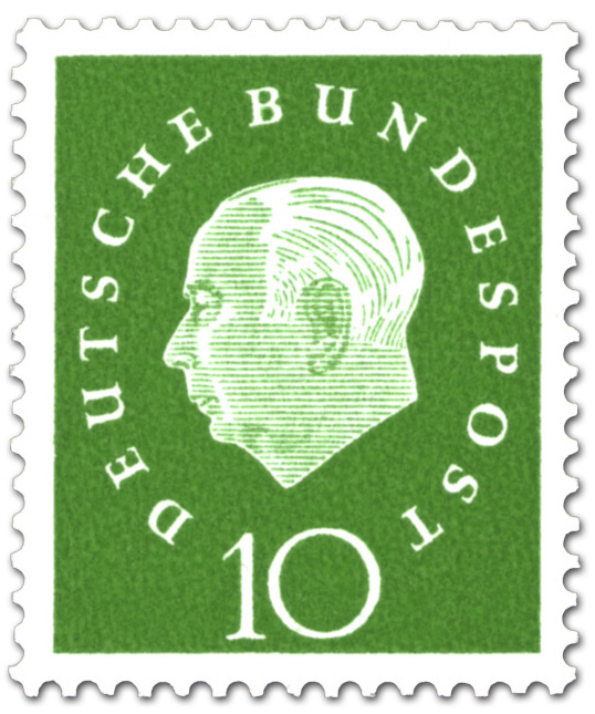 Theodor Heuss 10 Briefmarke 1959