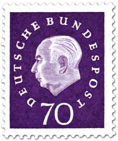 Briefmarke: Theodor Heuss (70)