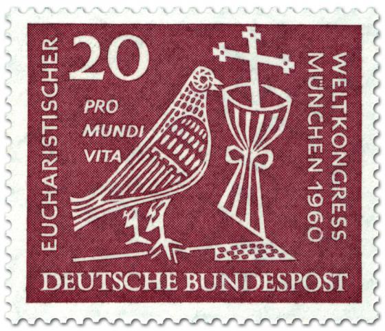 Briefmarke: Eucharistischer Weltkongress München (Taube, Kelch und Kreuz) 40