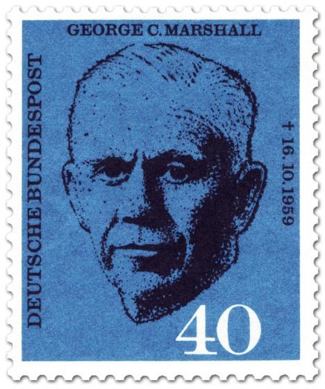 Briefmarke: General George C. Marschall (Fiedensnobelpreis 1953)