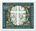 Briefmarke: Passionsspiele Oberammergau (Kreuz, Leiter, Hahn etc)