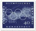 Briefmarke: Wagenrennen mit Vierspanner (Olympisches Jahr 1960)
