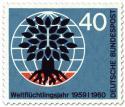 Briefmarke: Weltflüchtlingstag (Baum, Weltkugel) 40
