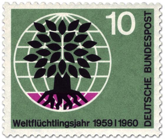 Briefmarke: Weltflüchtlingstag (Baum und Weltkugel) 10