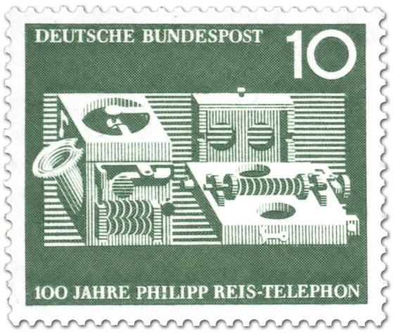 Briefmarke: 100 Jahre Telephon von Philipp Reis