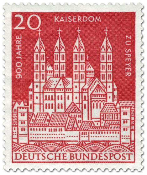 Briefmarke: 900 Jahre Kaiserdom zu Speyer