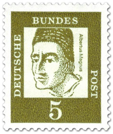 Briefmarke: Albertus Magnus (Bischof, Gelehrter)