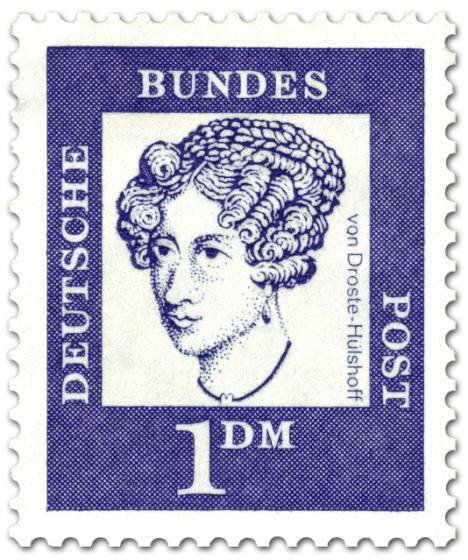 Briefmarke: Annette von Droste Hülshoff (Dichterin)