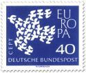 Europamarke 1961: Taube aus Tauben