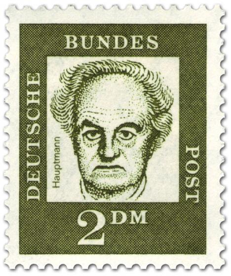 Briefmarke: Gerhart Hauptmann (Schriftsteller)