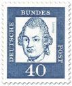 Briefmarke: Gotthold Ephraim Lessing (Dichter)