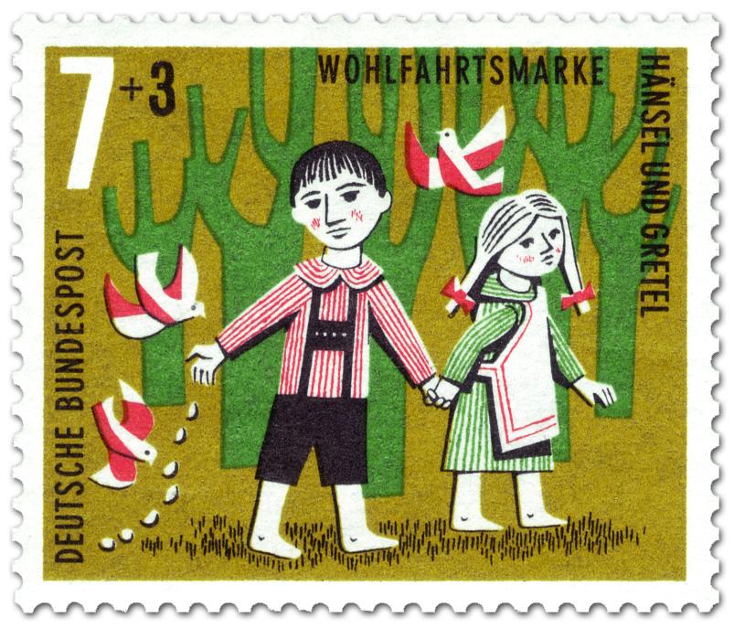 hänsel und gretel brotkrümel für die vögel briefmarke 1961