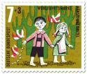 Briefmarke: Hänsel und Gretel: Brotkrümel für die Vögel