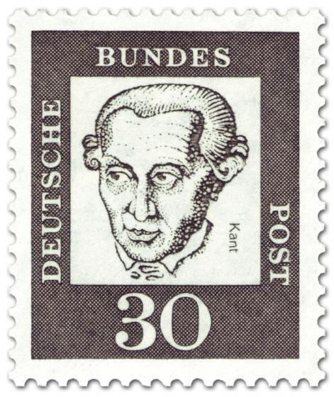 Briefmarke: Immanuel Kant (Philosoph)