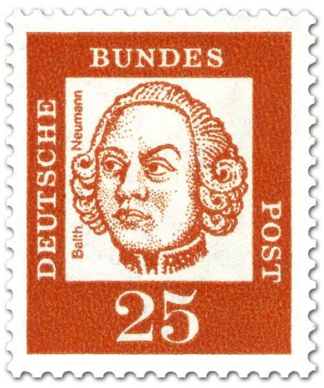 Briefmarke: Johann Balthasar Neumann (Baumeister, Architekt)