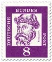 Briefmarke: Johannes Guttenberg (Erfinder des Buchdrucks)