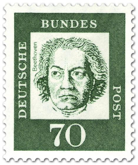 Briefmarke: Ludwig van Beethoven (Komponist)