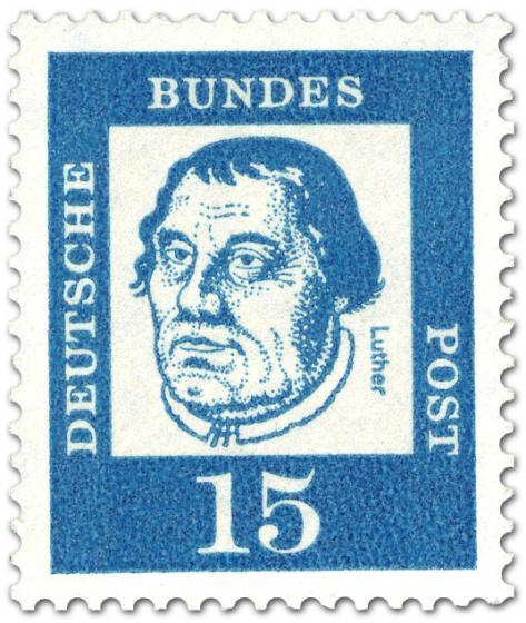 Briefmarke: Martin Luther (Theologe, Reformator)