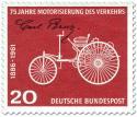 Briefmarke: Motorwagen von Carl Benz (Motorisierung des Verkehrs)