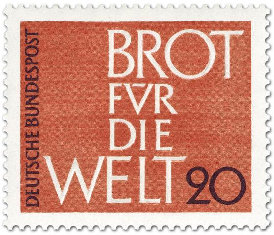 Briefmarke: Brot für die Welt 1962