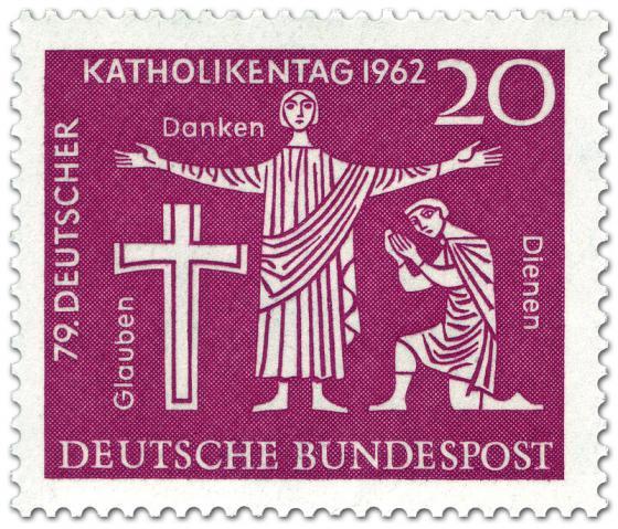Briefmarke: Glauben, Danken, Dienen - Jesus (Katholikentag 1962)