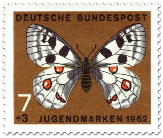 Briefmarke: Schmetterling Roter Apollo (Parnassius apollo)