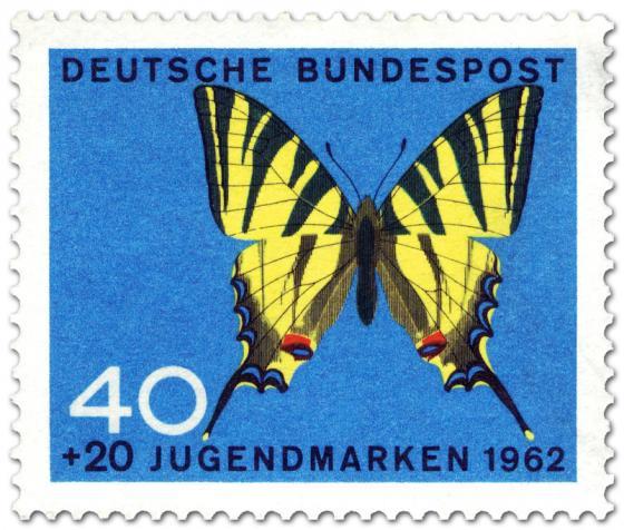 Briefmarke: Schmetterling Segelfalter (Iphiclides Podalirius)