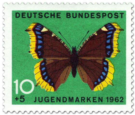 Briefmarke: Schmetterling Trauermantel (Nymphalis Antiopia)