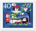 Briefmarke: Prinz an Schneewitchens Glassarg