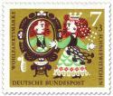 Briefmarke: Schneewittchens Stiefmutter vor dem Spiegel