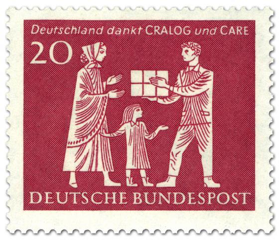 Briefmarke: Deutschland dankt Cralog und Care (Hilfsorganisationen)