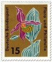 Briefmarke: Gelber Frauenschuh (cypripedium calceolosus orchidaceae)