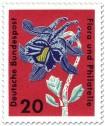 Briefmarke: Gemeine Akelei (aquilegia vulgaris ranunculaceae)
