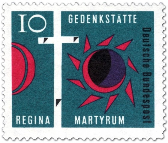 Briefmarke: Golgatha-Kreuz: Gedenkstätte Regina Martyrum
