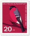 Briefmarke: Vogel: Dompfaff, Gimpel (Pyrrhula Fringillidae)