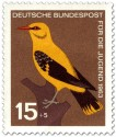Briefmarke: Vogel: Pirol (Oriolus Oriolidae)