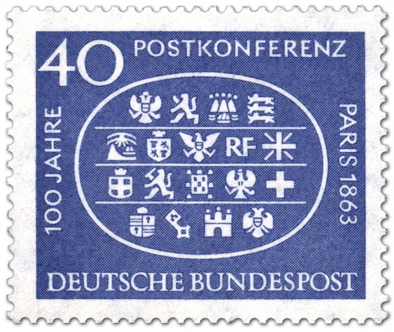 Briefmarke: Internationalen Postkonferenz Paris 1963 (Wappen)
