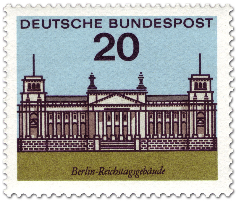 Berlin Reichstag Briefmarke 1964