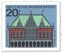 Briefmarke: Bremen Rathaus, Markt