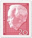 Briefmarke: Bundespräsident Heinrich Lübcke