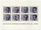 Briefmarkenblock Deutscher Widerstand (20. Jahrestag Attentat auf Hitler)