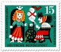 Briefmarke: Dornröschen am Spinnrad der Hexe