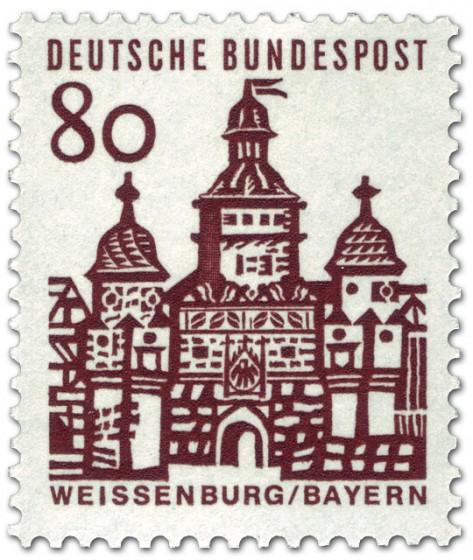 Briefmarke: Ellinger Tor, Weißenburg / Bayern