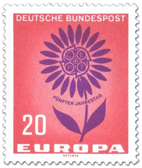 Briefmarke: Europamarke: Blume mit Cept