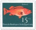 Briefmarke: Fisch: Rotbarsch (Sebastes Marinus)
