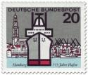 Briefmarke: Hamburger Hafen (Schiff und Michel)