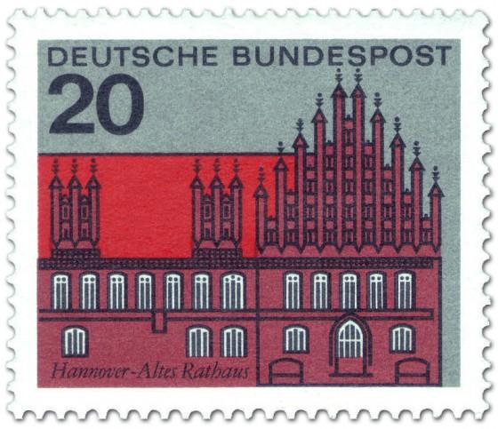 Hannover - altes Rathaus (Briefmarke)