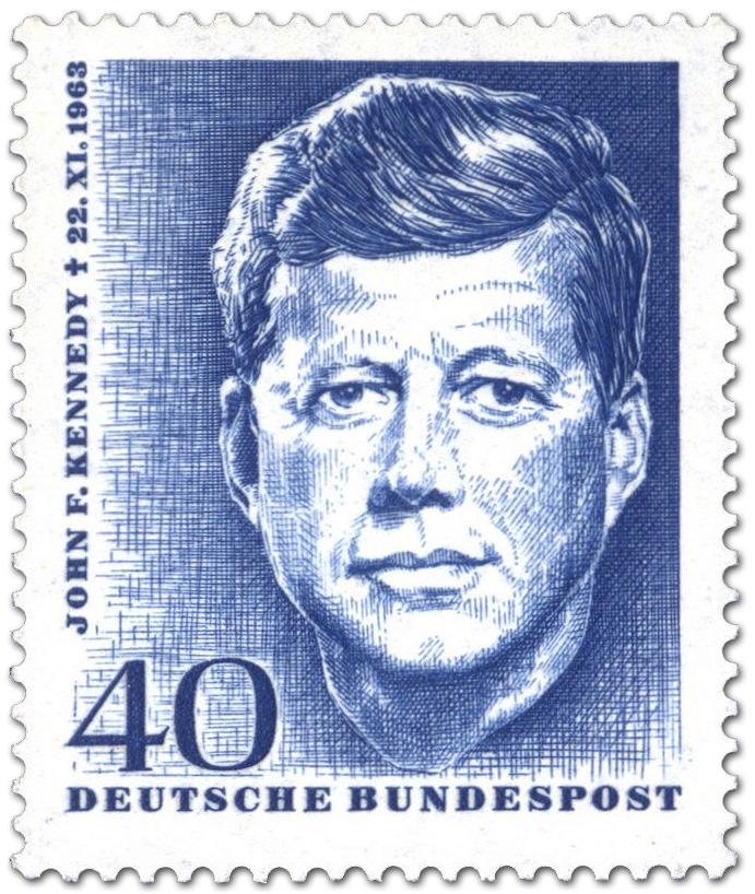 John F Kennedy 1 Todestag Briefmarke 1964