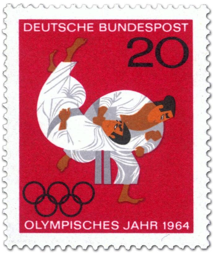 Judo Olympische Sommerspiele Tokio Briefmarke 1964