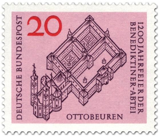 Briefmarke: Benediktiner-Abtei Ottobeuren (Kloster)